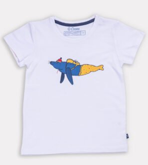 Walkabout Walrus T-Shirt- Unisex in White by Cooee Kids at Nurture Collective