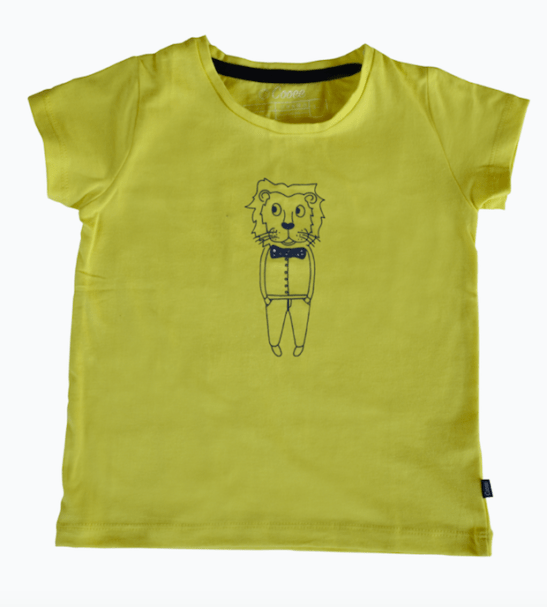 Fiery Lion T-Shirt - Unisex in yellow by Cooee Kids at Nurture Collective