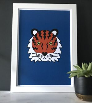 Tiger Print Framed by Tommy & Lottie at Nurture Collective