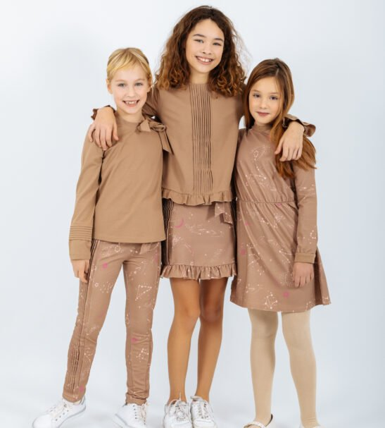 three girls wearing Peter jo A/W collection at Nurture Collective