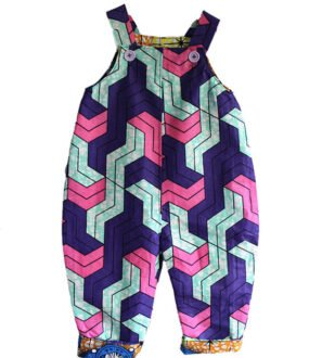 Escher Dungarees Front by Amamama Kids at Nurture Collective