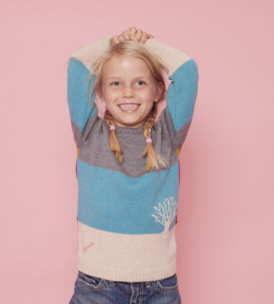 The Star Gazer Jumper in Grey Combo by The Faraway Gang at Nurture Collective