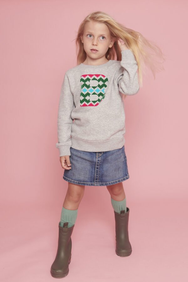 The Narrator Sweatshirt in Grey by The Faraway Gang at Nurture Collective