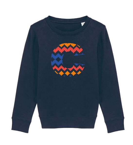 The Narrator Sweatshirt in Navy by The Faraway Gang at Nurture Collective