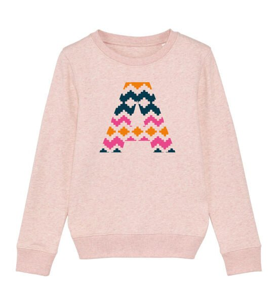 The Narrator Sweatshirt in Pink by The Faraway Gang at Nurture Collective