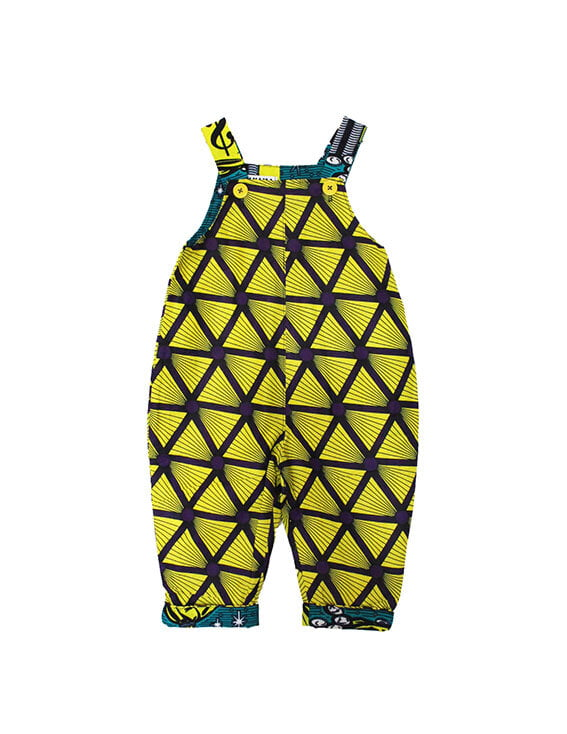Pyramid Dungarees Front by Amamama at Nurture Collective