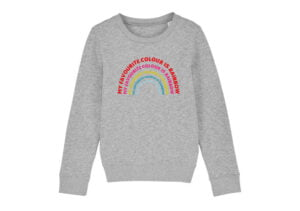 The Rainbow Sweatshirt in Grey by The Faraway Gang at Nurture Collective