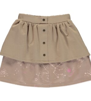 Skirt Aquila in Brown by Peter Jo at Nurture Collective