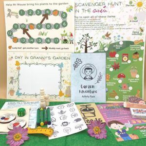 Gardening activity book and tokens by Helpful Kids at Nurture Collective