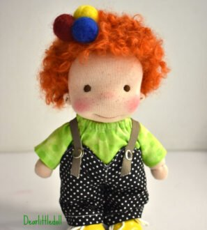 """Waldorf doll- pocket doll 8"""" by Dear little doll at Nurture Collective"""