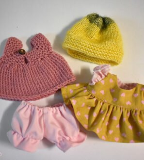 "Hand made Clothes Set for Waldorf Doll - Pocket 8"" by Dear Little Doll at Nurture Collective"