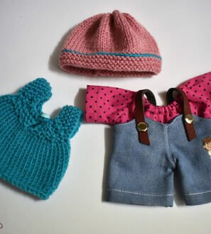handmade clothes set for waldorf inspired dolls by dear little doll at Nurture Collective