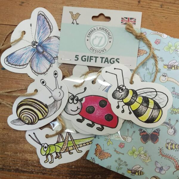 Set of Gift Tags by Emma Lawrence at Nurture Collective