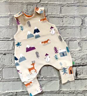 Christmas Snowman Romper by Maebelle & Bo at Nurture Collective