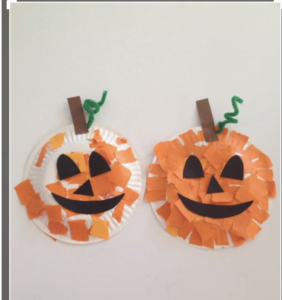 Pumpkin Paper plates arts and crafts at Nurture Collective blog