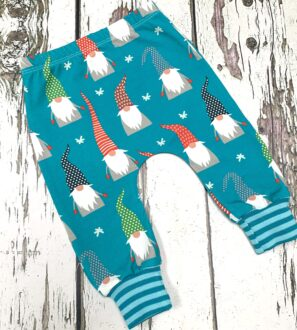 Aqua Gnomes Legging Pants by Maebelle & Bo at Nurture Collective