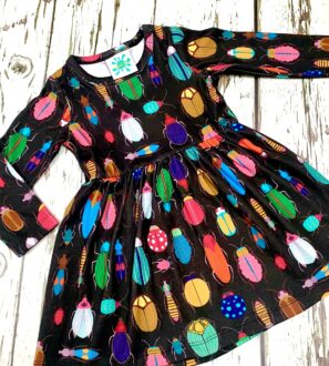 Organic Bugs Dress by Maebelle & Bo at Nurture Collective