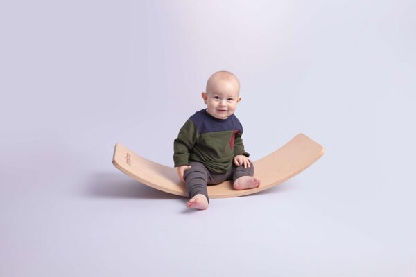 Curvy wooden Balance wobble boards by Capikooa at Nurture collective