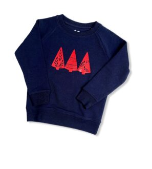 Organic 'Christmas Trees' Jumper by Squidge & Smudge at Nurture Collective