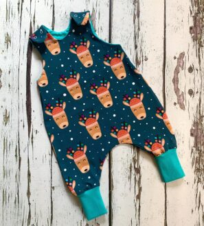 Reindeer Romper by Maebelle & Bo at Nurture Collective