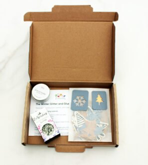 The Winter Glitter and Glue Box by Paper Party Bag Shop at Nurture Collective