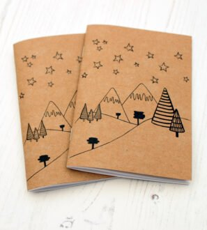 A6 Winter notebook with plain paper by Paper Party Bag at Nurture Collective