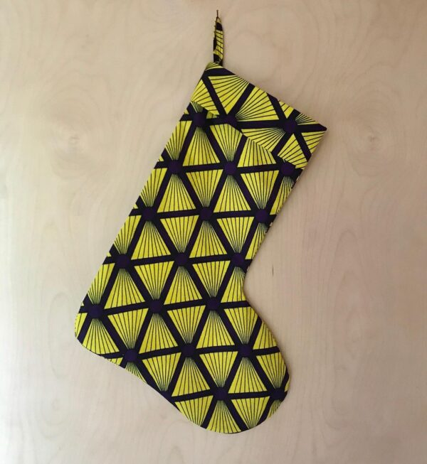 Christmas Stocking in Pyramid Print by Amamama at Nurture Collective