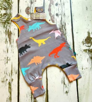 dinosaur romper by Maebelle & Bo at Nurture Collective