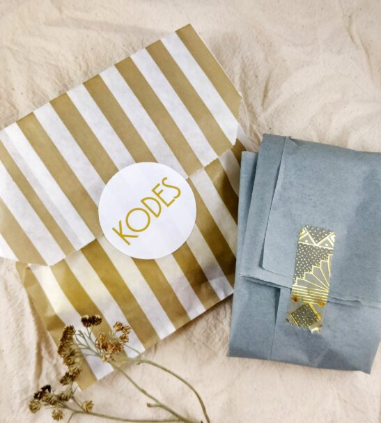 Kodes jewellery gift wrapping at Nurture Collective