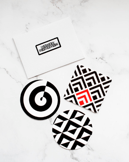 3 Geometric Sensory Decal Stickers by Block Sensory at Nurture Collective