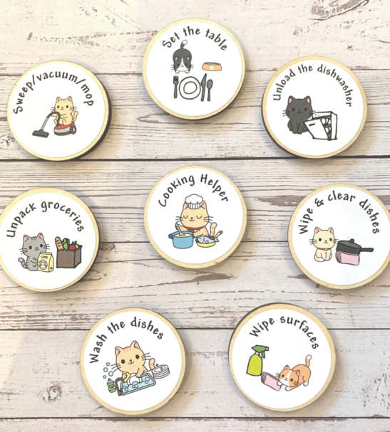 Tidy Bedroom Tokens by Helpful Kids at Nurture Collective