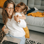 Mother and daughter work from home at Nurture Collective