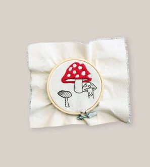 Toadstool Embroidery Kit by Paper Party Bags at Nurture Collective