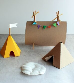 A Trio of Tents by Paper Party Bags at Nurture Collective