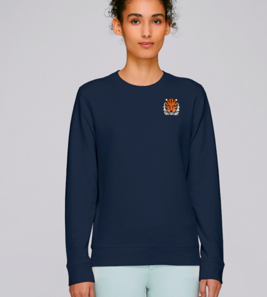 Adults Tiger Sweatshirt in Navy by Tommy & Lottie at Nurture Collective