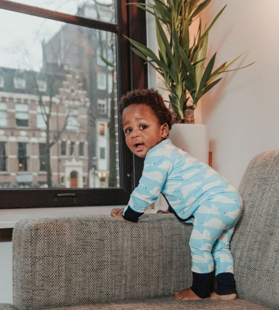 Zipster Baby Grow sleepy bear by Zipster at Nurture Collective
