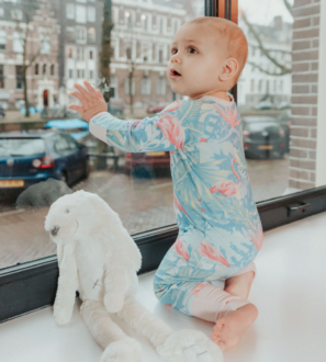 ZIPSTER FLAMINGO Babygrow Onesie at Nurture Collective