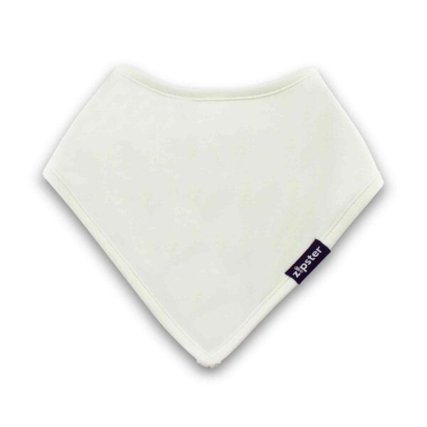 BAMBOO DRIBBLE BIB WHITE by Zipster at Nurture Collective