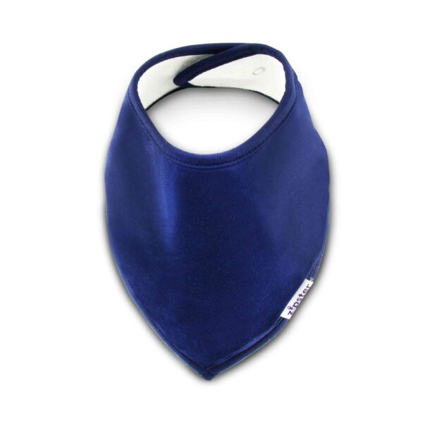 Bamboo Dribble Bib Navy Blue by Zipster at Nurture Collective