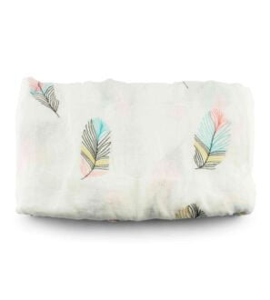 Muslin Blanket - Feathers by Zipster at Nurture Collective