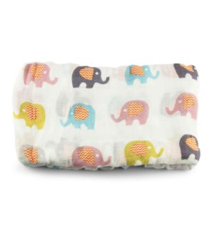 Muslin Blanket - Elephant by Zipster at Nurture Collective