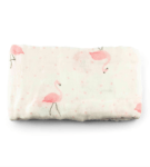 Muslin Blanket - Flamingo by Zipster at Nurture Collective