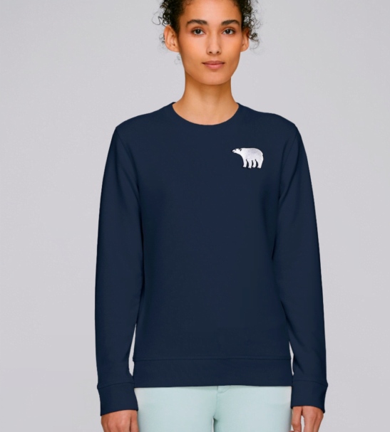 Adults Organic Cotton Polar Bear Sweatshirt by Tommy & Lottie at Nurture Collective