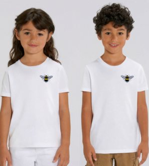 Childrens Organic Cotton Bee T Shirt by Tommy & Lottie at Nurture Collective