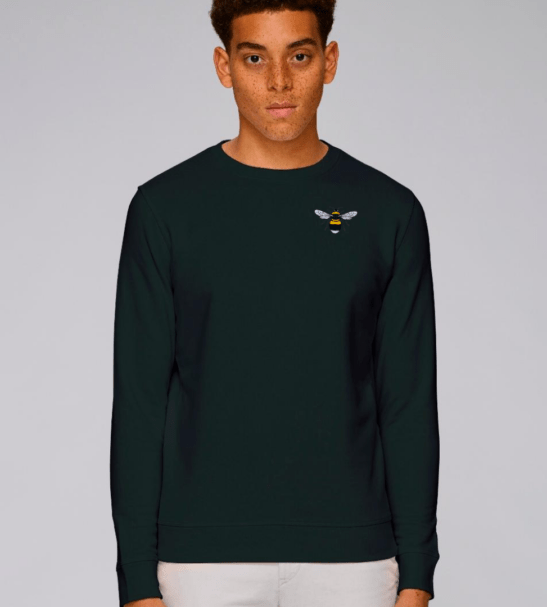 Adults Organic Cotton Bee Sweatshirt by Tommy & Lottie at Nurture Collective
