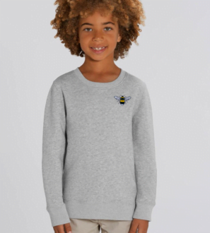 Childrens Kids Organic Cotton Bee Sweatshirt by Tommy & Lottie at Nurture Collective