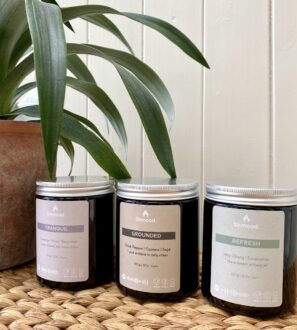 Trio of Soy Wax Candles by Shamood at Nurture Collective