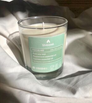 Soy Wax Candle Focus Aid Peppermint & Cypress by Shamood at Nurture Collective