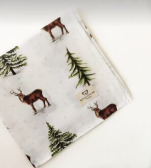 Dear Little One Muslins baby blanket set in Deer Print at Nurture Collective