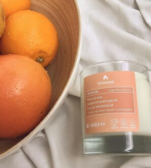 Soy Wax Candle Energise Grapefruit & Orange by Shamood at Nurture Collective